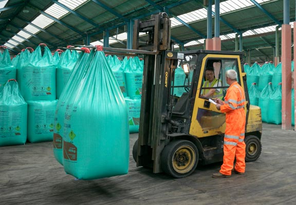 Bagged Cargo at Wrabness Storage Facilities