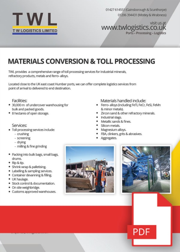 Material Handling, Conversion & Toll Processing Download Available